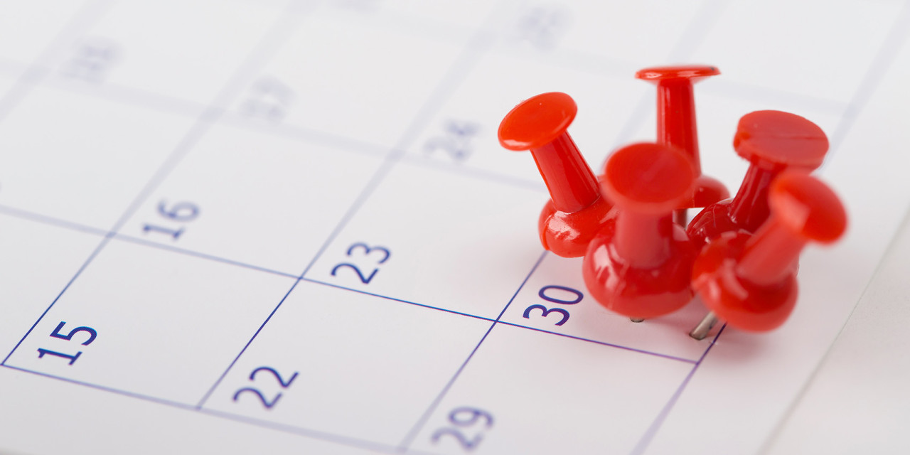 Important date or concept for busy day
